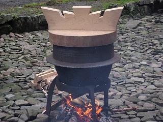 湯立て祭事用の羽釜