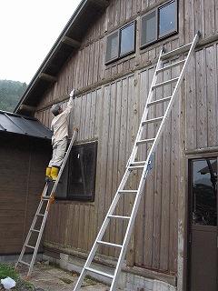 小屋の補修