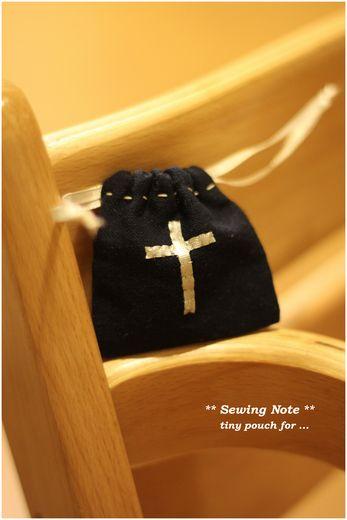 十字架巾着
