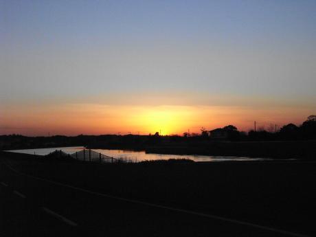 一宮の夕日