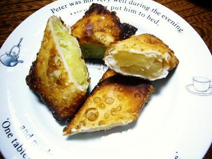 スイートポテトパイとアップルパイもどき