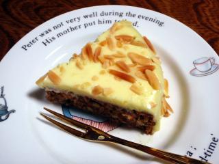 アーモンドがぎっしり入ったケーキ