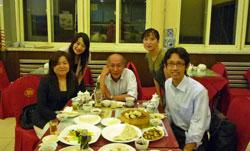 瀋陽にて食事