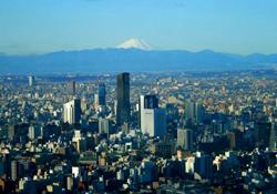 リッツカールトン東京から見える富士山