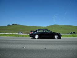 カリフォルニアのFreewayを走る