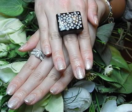 ラメグラデ+ダイヤモンド2