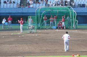 08.9.4 試合前練習 打者赤松