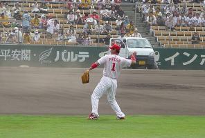 08.9.6 試合前練習・前田