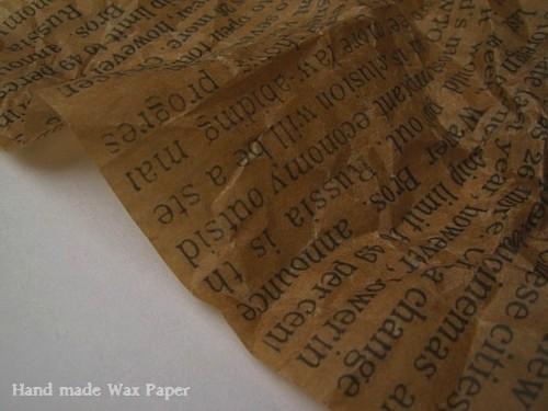 オリジナルロウ引き紙