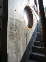 1階階段壁型枠をはずしたところ