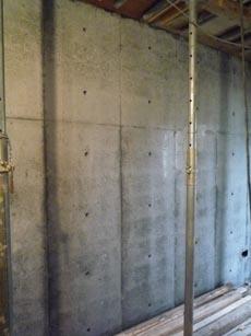 コンクリート打ち放しの壁