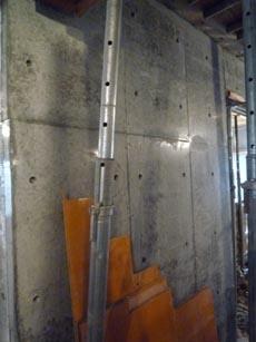 コンクリート打ち放しの壁②