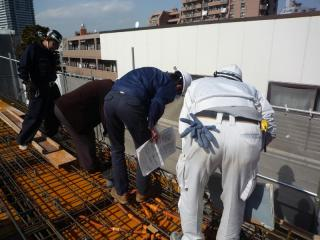 09-3-16 R階床スラブ配筋検査 ①