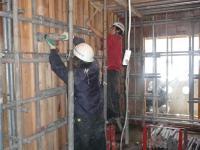 3階壁R階床スラブコンクリート打設 ⑤