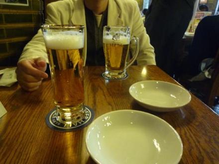 銀座ビアホールのビール