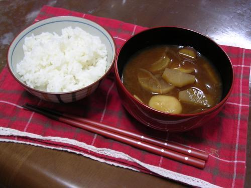 新米&団子汁~