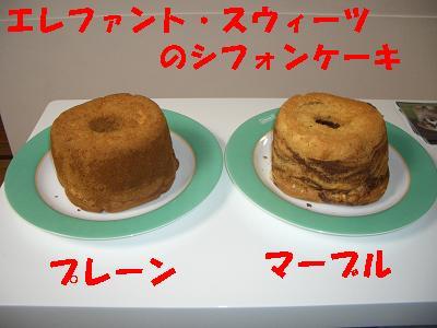 エレファントのシフォンケーキ