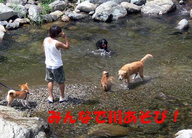 みんなで水遊び!