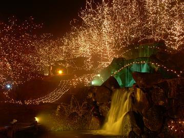 幻想的な滝