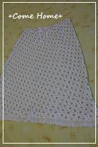 小花柄のスカートが・・・