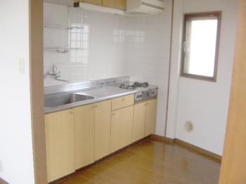 お料理好きの方でも満足の広めのキッチンです。1Kタイプのミニキッチンと違いスペースが広く使い易いですよ。