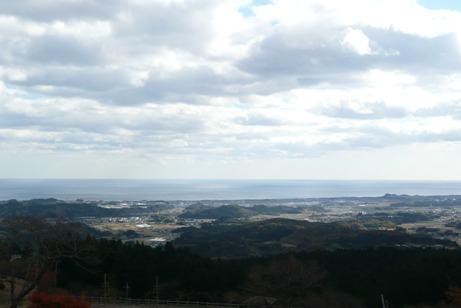 駐車場からの太平洋の眺望
