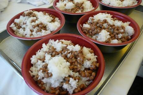 予選用の納豆ご飯