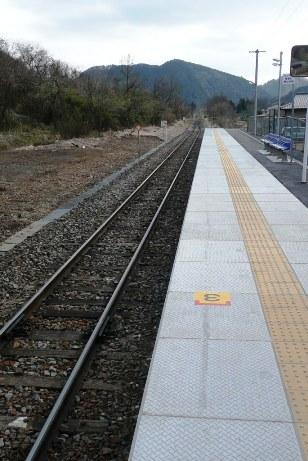 袋田駅のホーム