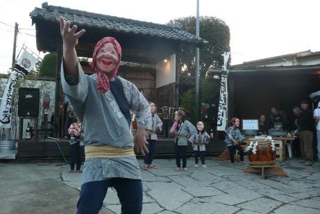 笠間稲荷お囃子とひょっとこ踊り