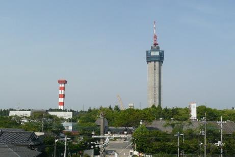 建設中の世界一のエレベーター試験塔