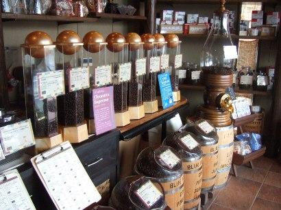 入口にある世界のコーヒー(量り売り可)