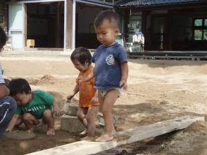 園庭遊び(1才)