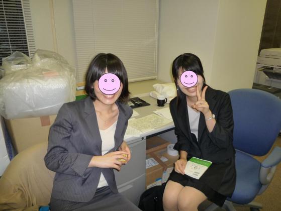 同期Hちゃんと内定者のMちゃん☆