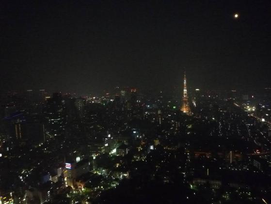 中秋の名月と東京タワー from 六本木ヒルズ☆