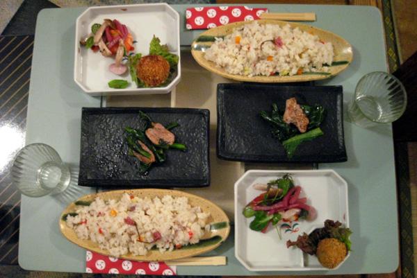 2008 3.8シェアハウス名古屋おもてなし.料理