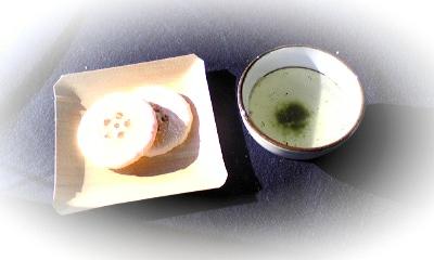 梅煎茶&お茶菓子
