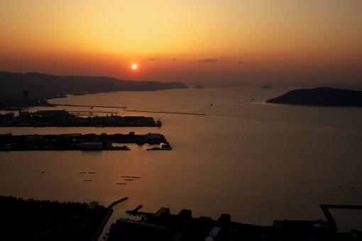 屋島の夕景'09.04.2-1