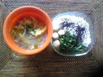 冬の実家野菜弁当