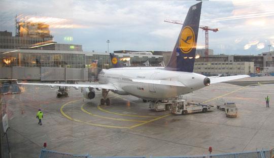 フランクフルト空港の飛行機