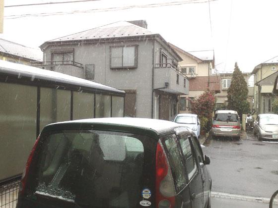 雪-家の前