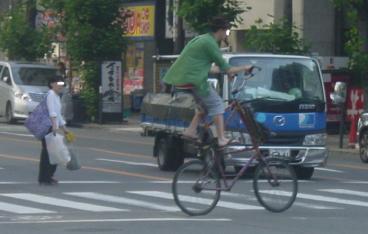 高さ2mの位置にサドルのある自転車