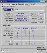 PC3200の512MHzが刺さっています。