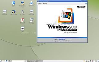 Linux上でWindows2000を動かす