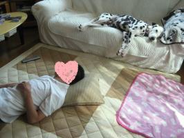 寝てる (2)