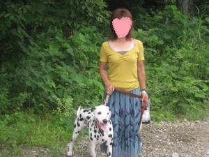 ママと高原の散歩