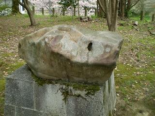 城上神社 亀石