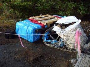 山への物資輸送