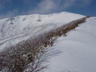 雪に覆われた栗駒山
