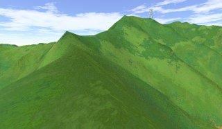 神室山から1km地点からの眺め