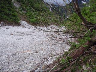 s04雪渓に下りる